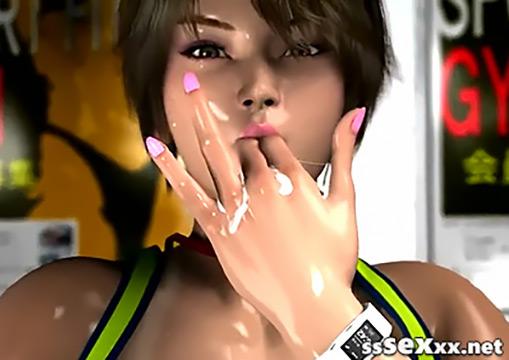 Сексуальная тренерша Шёко Сугимото. Жесткий 3D хентай
